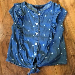 Cutest Toddler Girls Button Down Shirt-Size 3T
